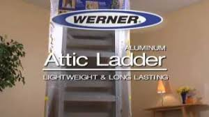 werner aluminum attic ladder gas struts youtube