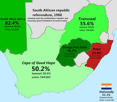 Blank Map Of South Africa Provinces by South African Republic Referendum 1960 Brilliant Maps