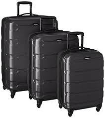 black friday 2017 best luggage deals amazon com samsonite omni pc 3 piece set spinner 20 24 28 black