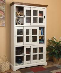 Library Bookcase With Glass Doors by Furniture Mahogany Bookcase With Glass Doors Brown Solid Wood