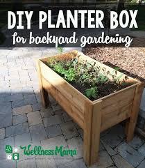 How To Make A Patio Garden Diy Planter Box Tutorial For Patio Or Balcony Wellness Mama