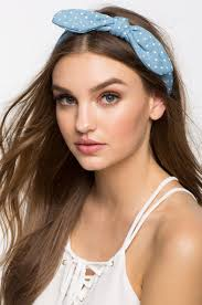 women s headbands women s headbands polka dot chambray tie front headband a gaci