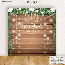 wedding backdrop size wedding backdrop rustic backdrop engagement party personalized