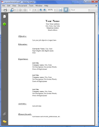 resume exles pdf resume exles fill in free resume template downloads pdf