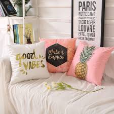aliexpress com buy double side print pineappl pillow cover home