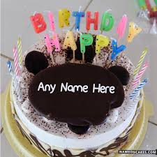 birthday alphabets candles cake