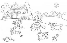 summer color pages coloring pages kid on the beach coloring page for kids summer