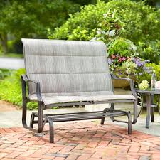 Veranda Metal Patio Loveseat Glider by Hampton Bay Statesville Patio Double Glider Fcs70357rl The Home
