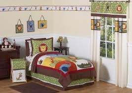 brown green jungle safari animal boys bedding twin full queen