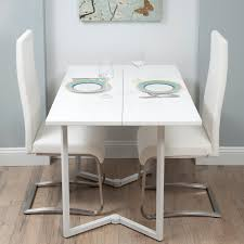 kitchen contemporary white dining room table wall mounted