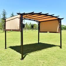 Pergola Mosquito Net by Amazon Com Tangkula 12 U0027 X 9 U0027 Pergola Gazebo Outdoor Patio Garden