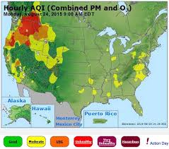 map of oregon smoke smoke map and flag warnings august 24 2015 wildfire today