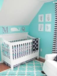 bright turquoise nautical nursery design for a boy kidsomania