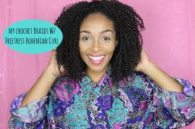 how to style crochet braids with freetress bohemia hair natural hair crochet braids w freetress bohemian curl bulk de
