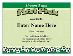 sports team award certificate templates posters