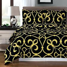 King Size Cotton Duvet Cover Modern Medallion Black Gold Cotton Duvet Cover Set Black And Gold