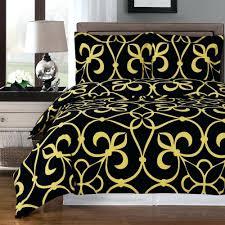 modern medallion black gold cotton duvet cover set black and gold