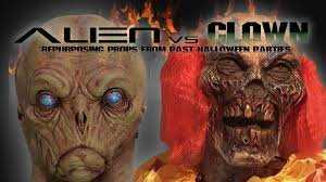 Alien Vs Clown Repurposing Halloween Props Youtube