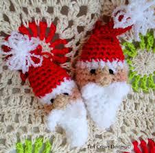 new free cute santa ornament crochet pattern christmas and