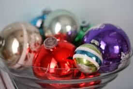vintage glass tree ornaments