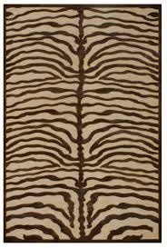 Zebra Area Rug Saphir Collection 3796f Ivory Chocolate Zebra Area Rug