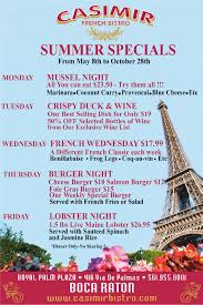 thanksgiving dinner boca raton french restaurants south east florida boca raton casimir bistro