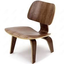 trendy eames lounge chairs with white cushions and wooden seats