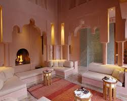 salmon paint color for fabulous moroccan living room with pink