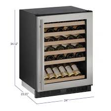 locking wine display cabinet u line 1224wcs 13b 48 bottle wine cooler refrigerator