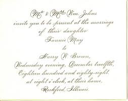 winsome wedding invitation wording from and groom as an