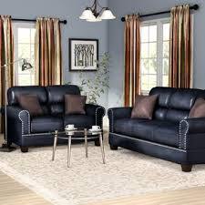 Black Leather Living Room Furniture Sets Black Leather Living Room Sets You Ll Wayfair