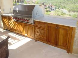 Outside Kitchen Cabinets Building An Outdoor Kitchen With Wood Outofhome
