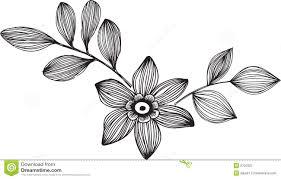 ornamental flower vector illustration royalty free stock