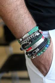 mens bracelet fashion images Mens style stacked bracelets mens style pinterest mens jpg
