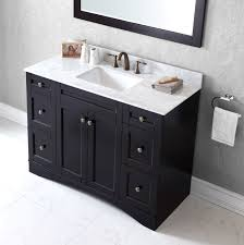 Virtu USA Elise  Bathroom Vanity Cabinet In Espresso Bathtubs Plus - 48 white bathroom vanity cabinet