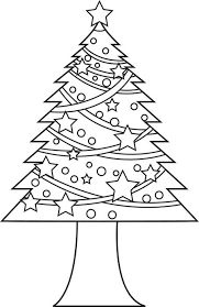 free printable christmas tree coloring kids 4