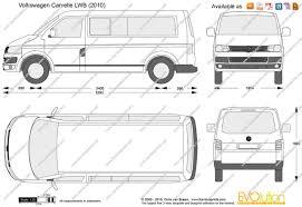 volkswagen van drawing the blueprints com vector drawing volkswagen caravelle lwb