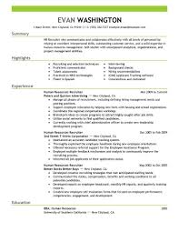 Hr Recruitment Resume Sample by Self Employed Resume Haadyaooverbayresort Com