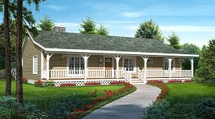 ranch home plans with front porch house plan 20227 familyhomeplans com