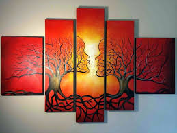 tree of life home decor wall arts home decor 5 piece canvas art prints scenery art