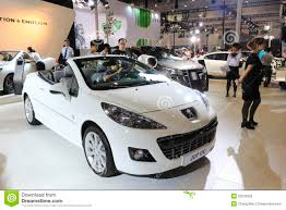 peugeot white white peugeot 207 cc car editorial photography image 32245802