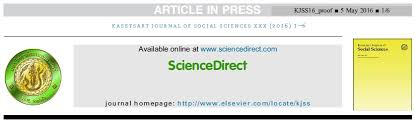 the asian editor kasetsart journal of social sciences bangkok