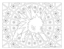 pokemon coloring pages images 135 jolteon pokemon coloring page windingpathsart com