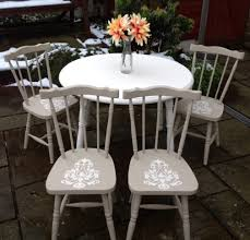 shabby chic extendable farmhouse white dining table u0026 4 chairs