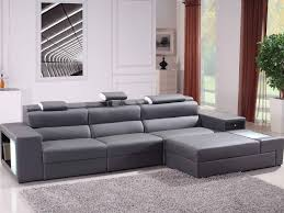 furniture 1 interior gray leather sofa chaise lounge with