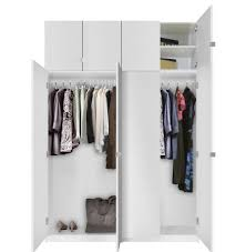 Free Standing Closet With Doors Alta Free Standing Closet 8 Door Taller Package Contempo Space