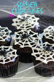 easy to make halloween cakes and cupcakes spider cupcakes simply sated