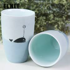 new home contend jingdezhen hand painted blue whales original