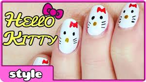 hello kitty nail art youtube