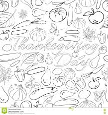 autumn graphic seamless pattern with fruits and vegetables in